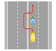 Объезд препятствия по встречной полосе, когда выезд на нее запрещен, если при этом есть возможность объезда справа.