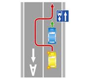 Выезд на встречную полосу, предназначенную для движения маршрутных транспортных средств.
