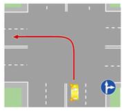 Поворот налево на перекрестке, на котором такой поворот запрещен.