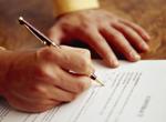 ФОТО - Составление и подпись договора купли-продажи подержанного автомобиля с пробегом