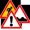 Фото группы предупреждающих знаков в виде мини-картинки