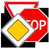 Фото группы дорожных знаков приоритета в виде мини-картинки