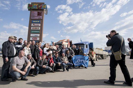 Дальнобойщики свернули свой лагерь в Химках и создали аналог официального профсоюза