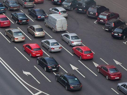 Московские пробки победят с помощью дорожной разметки
