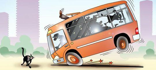 В московских автобусах начнут фиксировать резкие торможения