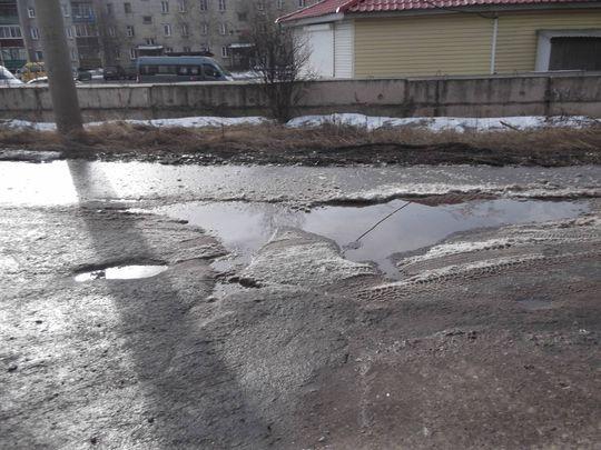 Так выглядят дороги города Усть-Кута Иркутской области