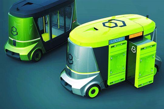 На форуме в Сочи представили беспилотный автобус Matrёshka