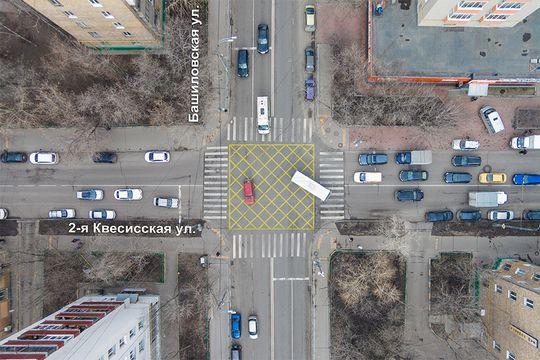 В ГИБДД Москвы признали «вафельницу» бесполезной разметкой