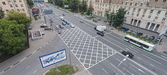 «Вафельная» разметка появится на всех перекрестках России