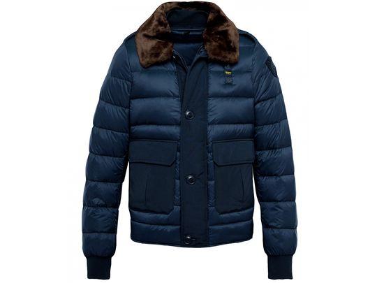 Куртка на пуху Blauer с меховым воротником