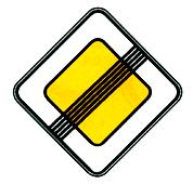 знак конец главной дороги фото