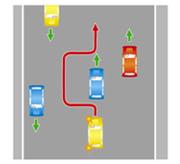 Обгон с выездом на сторону дороги, предназначенную для встречного движения, на дорогах с двусторонним движением, имеющих четыре полосы или более (даже при отсутствии на них разметки).