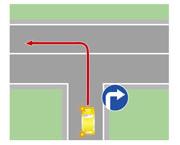 Выезд на дорогу налево через сплошную (или двойную сплошную) линию разметки.