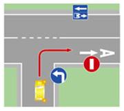 Выезд на полосу, предназначенную для движения маршрутных транспортных средств, и движение по ней в попутном для маршрутного транспорта направлении.