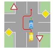 Обгон с выездом на встречную полосу на нерегулируемом перекрестке при движении по второстепенной дороге.