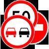Фото группы запрежающих знаков дорожного движения в виде мини-картинки