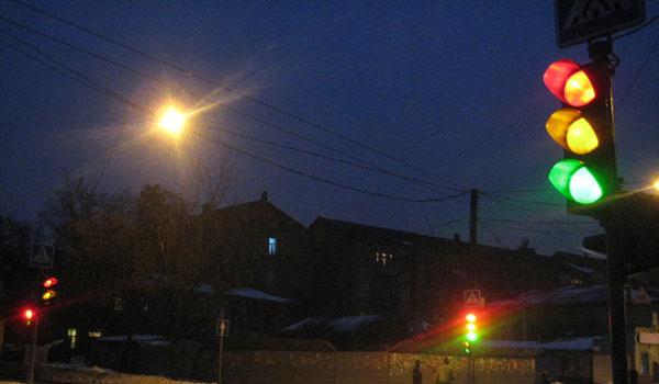 Светофор установка