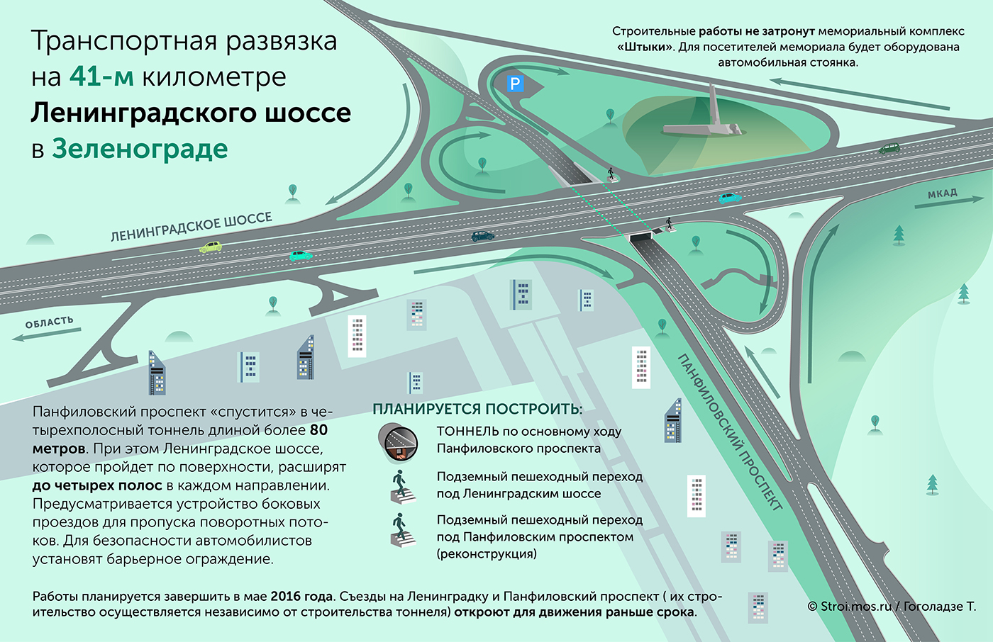 Новая схема движения ленинградского проспекта