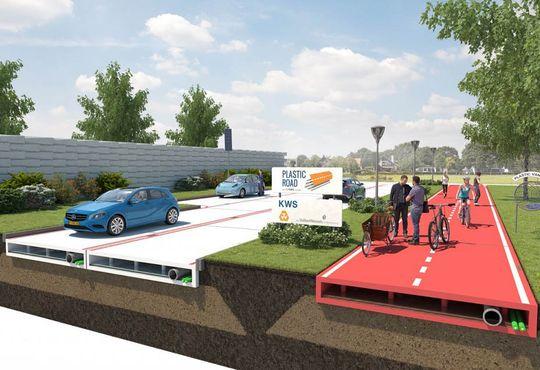 В Госдуме предложили строить дороги из переработанной пластмассы