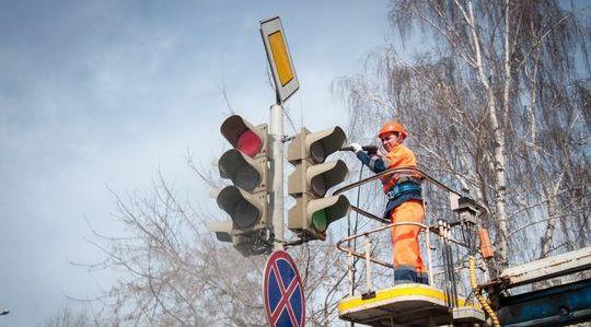 ЦОДД Москвы пообещал вымыть все светофоры к 1 мая 2016 года