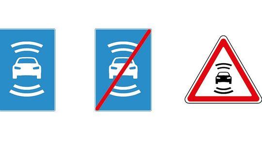 В России разработали новые дорожные знаки для беспилотных автомобилей