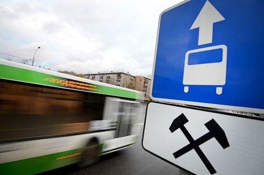 В Москве введут 100 километров новых выделенных полос