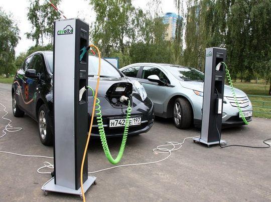 В центре Москвы установили зарядные станции для электромобилей