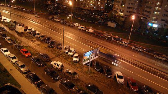Только половина автомобилей в Москве — со столичными номерами