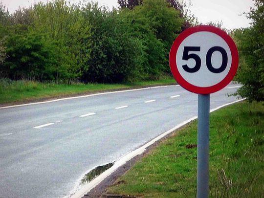 Знак обмеження швидкості