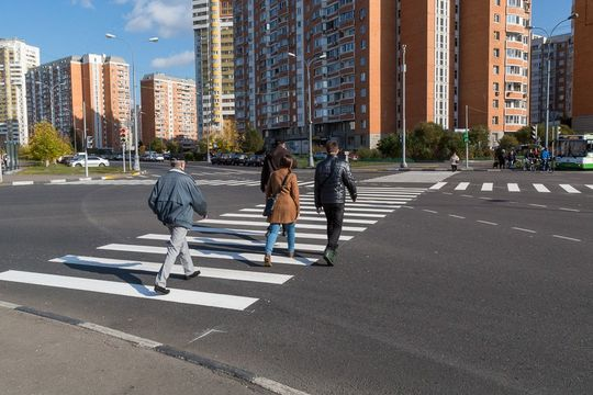 В Москве для пешеходов появятся новые диагональные зебры