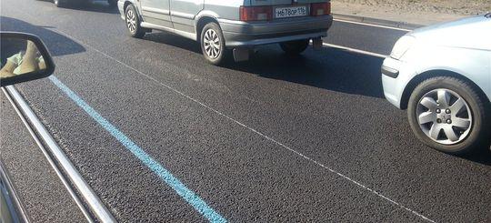 В Москве некоторые дорожные знаки заменят голубой разметкой